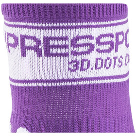 Compressport Racing V2 Calze, fluo purple